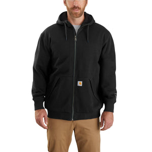 'Carhartt' Men's Rain Defender® Midweight Thermal Lined Full Zip Hoodie - Carbon Heather / Black