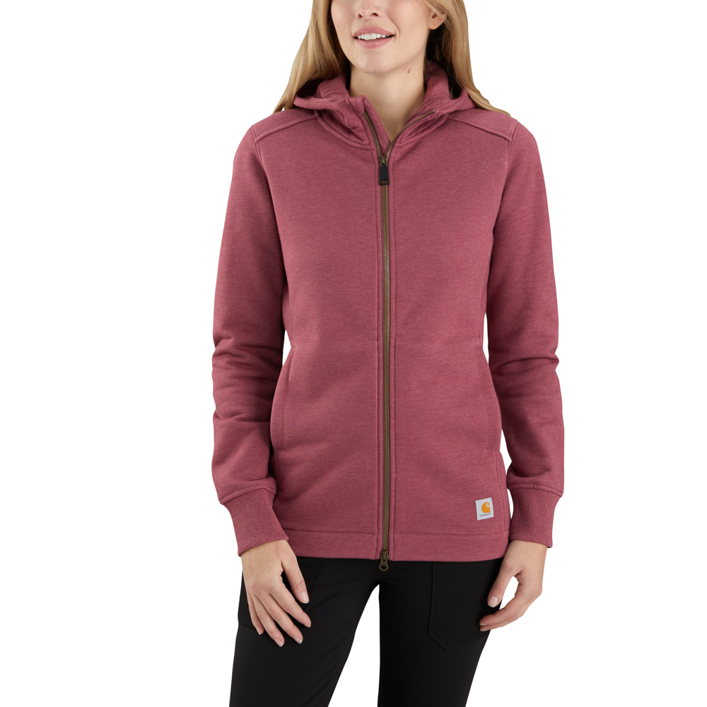 'Carhartt' Women's Rain Defender Full Zip Tunic - Iron Ore Heather