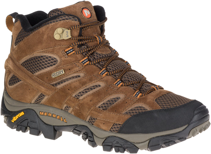 'Merrell' Men's Moab 2 Mid WP - Earth (Wide)
