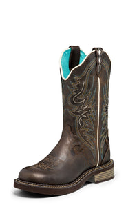 "'Justin' Women's 12"" Lily Western - Chocolate Brown"