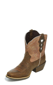 "'Justin' Women's 7"" Chellie - Chocolate Buffalo / Copper"
