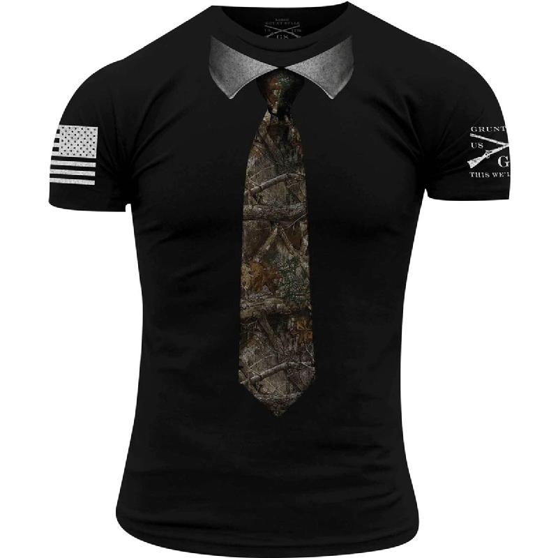'Grunt Style' Men's Realtree Edge® Necktie Tee - Black