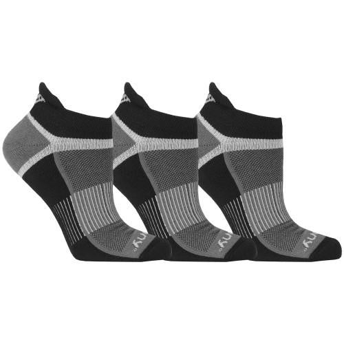 'Saucony' Men's Inferno No Show Tab 3-Pack Socks - Black / Gray