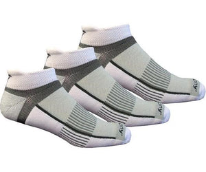 'Saucony' Men's Inferno No-Show Tab 3-Pack Socks - White / Light Gray / Heather Gray