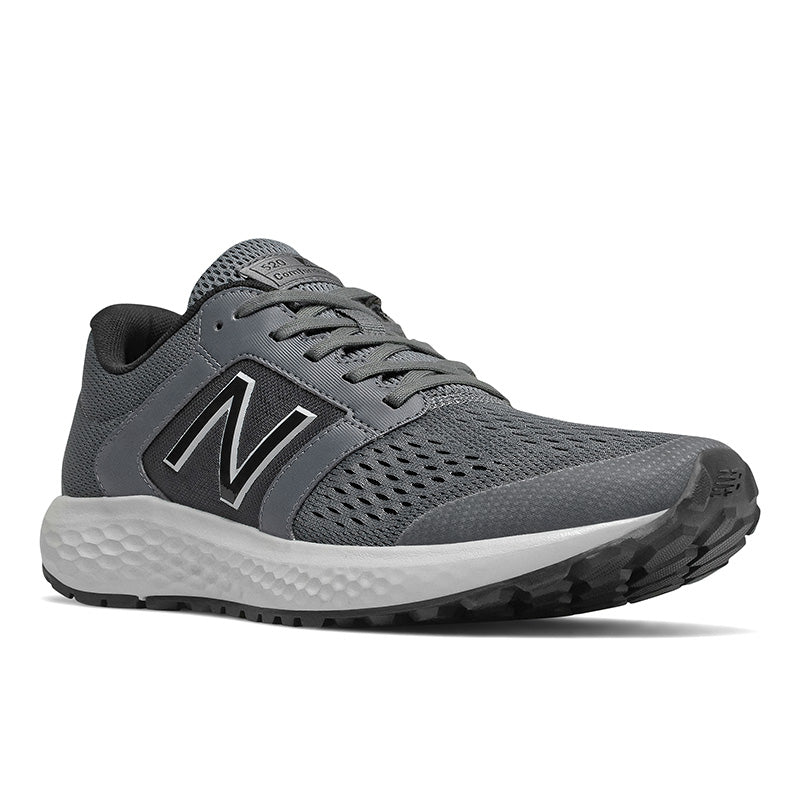 'New Balance' Men's Mesh Upper Running Shoe - Lead / Lt Alum / Black