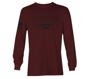 'Howitzer Clothing' Men's Freedom Athletics Tee - Burgundy
