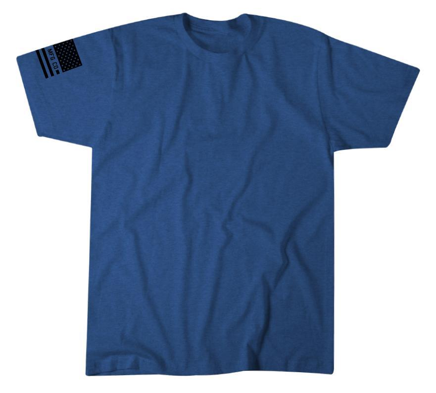 'Howitzer Clothing' Men's Standard Patriot Tee - Electric Blue Heather