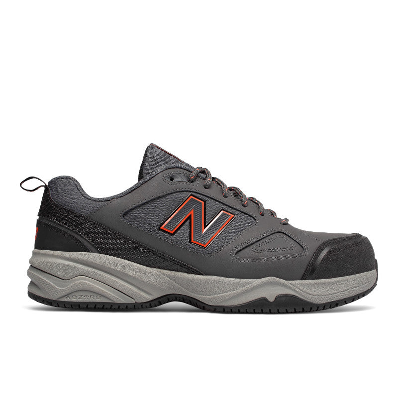 627v2 ESD SR Steel Toe Shoe - Gray / Orange / Black