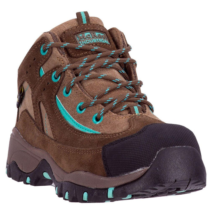 'McRae' Women's Poron XRD Internal Met Guard Comp Toe Hiker - Brown / Turquiose
