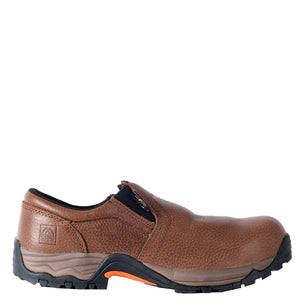"'McRae' Men's 3"" Internal Met Guard Comp Toe Slip-On - Brown"