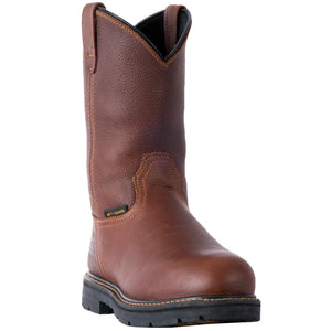 "11"" Internal Met Guard EH Steel Toe Pull On Boot - Brown"