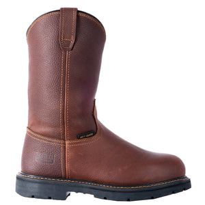 "'McRae' Men's 11"" Internal Met Guard EH Steel Toe Pull On - Brown"