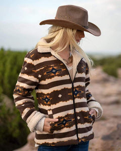 'Outback Trading' Dawn Fleece Jacket - Brown