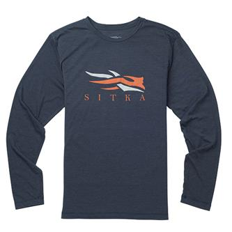 'Sitka' 20091-EH - L/S Logo Tee - Eclipse Heather