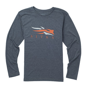 'Sitka' 20091-LH - L/S Logo Tee - Lead Heather
