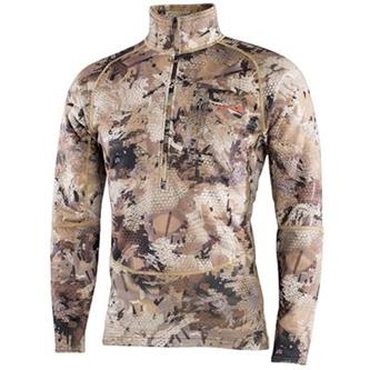 'Sitka' 70020-WL - Waterfowl Grinder Half- Zip T - Marsh