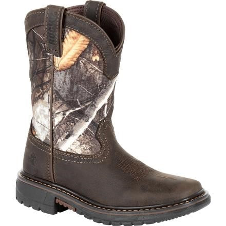 'Rocky' Youth Ride FLX WP Square Toe - Brown / Realtree Camo