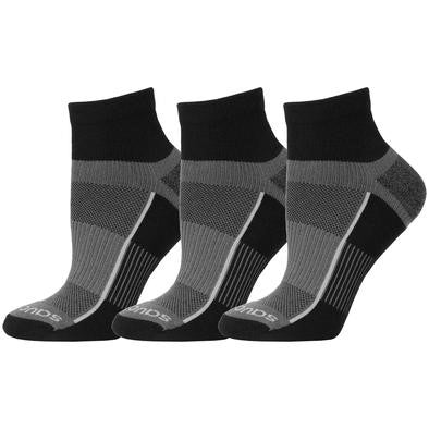 'Saucony' Men's Inferno Quarter 3-Pack Socks - Black / Gray