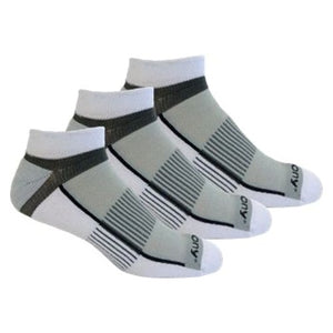 'Saucony' Men's Inferno Quarter 3-Pack Socks - White / Light Gray / Heather Gray