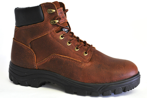 "'Work Zone' Men's 6"" 200GR EH WP Soft Toe - Brown"
