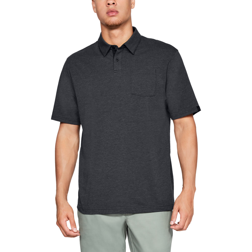 'Under Armour' Men's Charged Cotton® Scramble Polo - Black