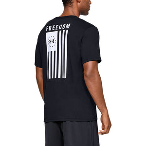 Under Armour' Men's Freedom Flag T-Shirt - Black / White