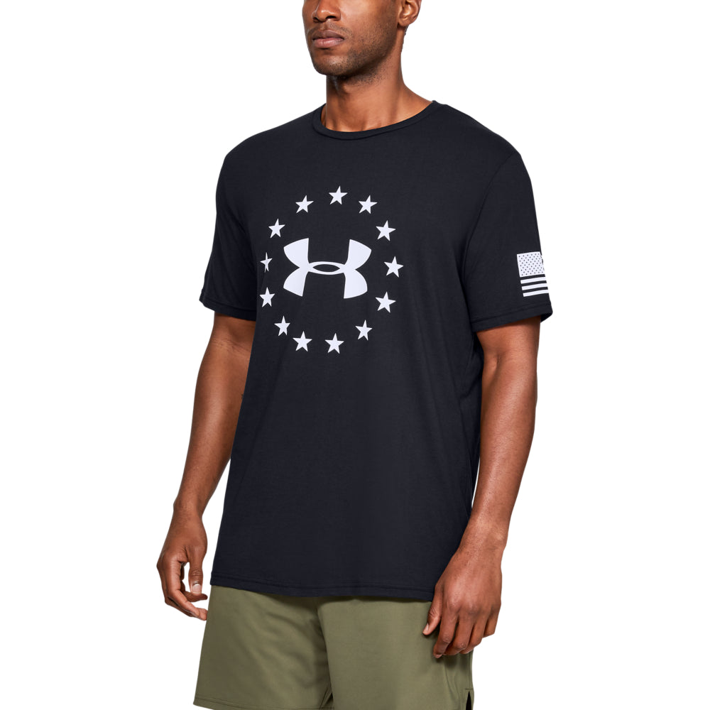 'Under Armour' Men's Freedom Logo T-Shirt - Black