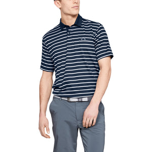 """Under Armour' Men's Performance 2.0 Stripe Polo - Academy / White"