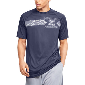 'Under Armour' Men's Tech™ 2.0 Graphic T-Shirt - Blue Ink