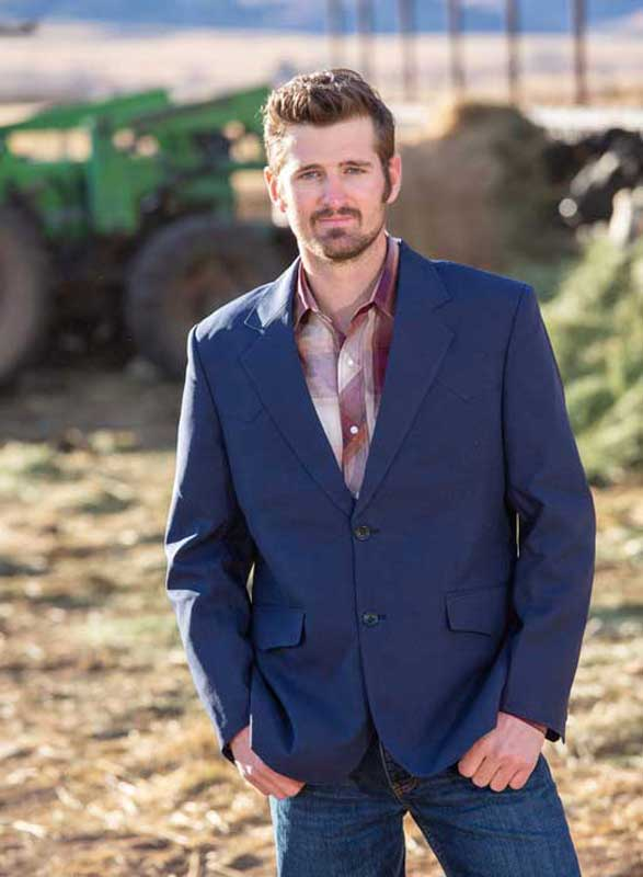 'Wyoming Traders' Men's Western Sport Jacket - Navy