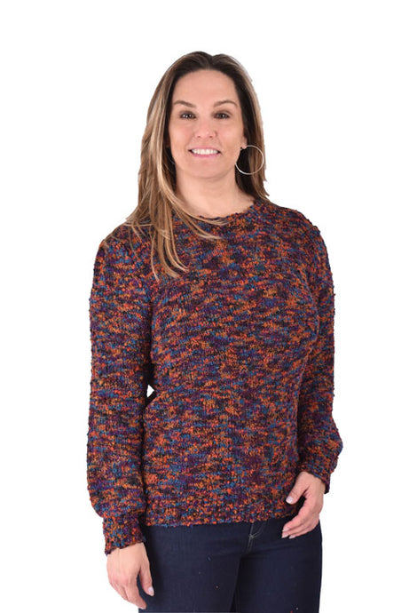 'Ethyl' TM1815 - LS Pullover Sparkle Sweater - Multi