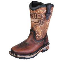 "Toro 10"" Square Toe Steel Toe Boot - Brown  / Beige"