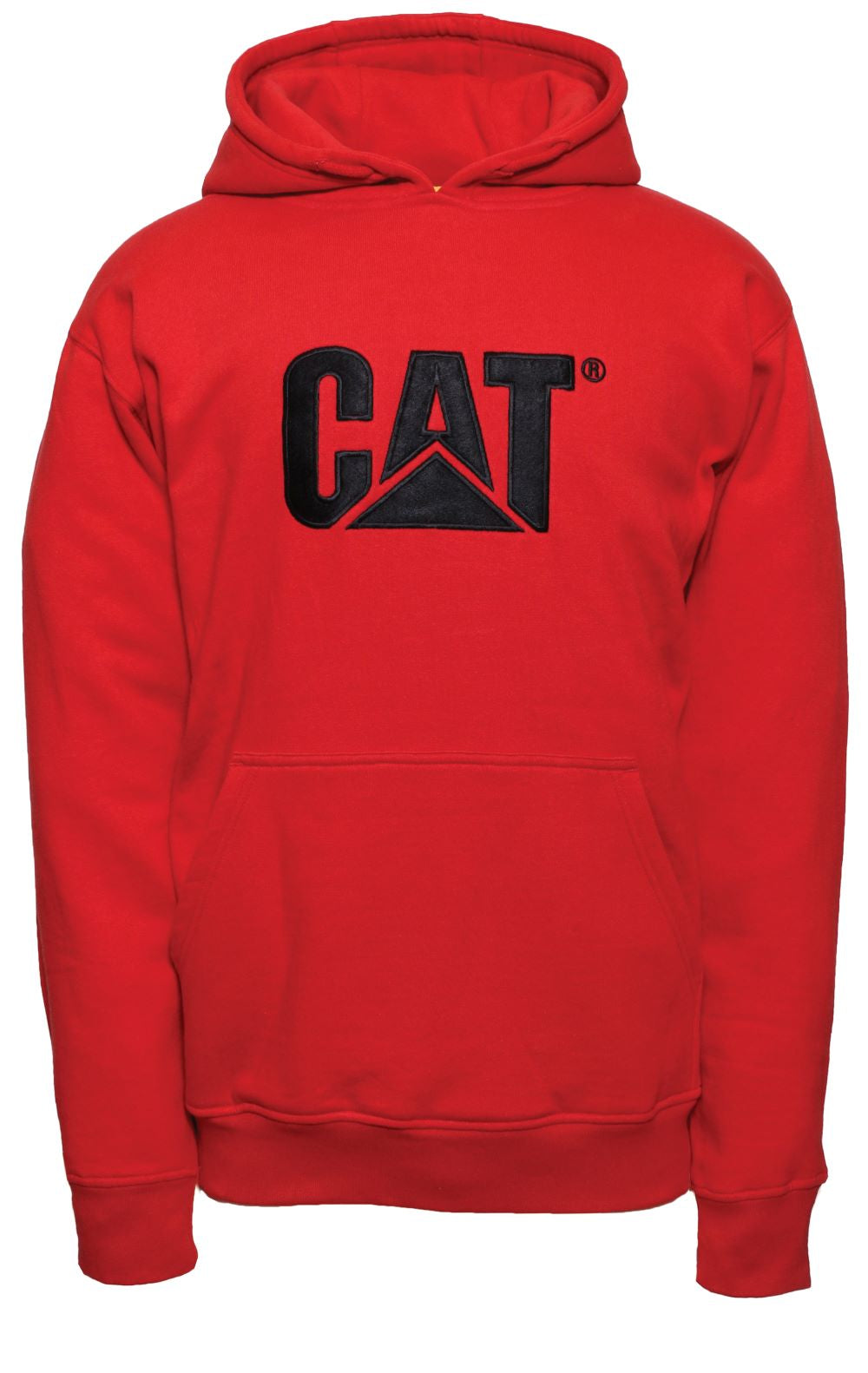 'Caterpillar' Men's Trademark Hooded Sweatshirt - Red Tide