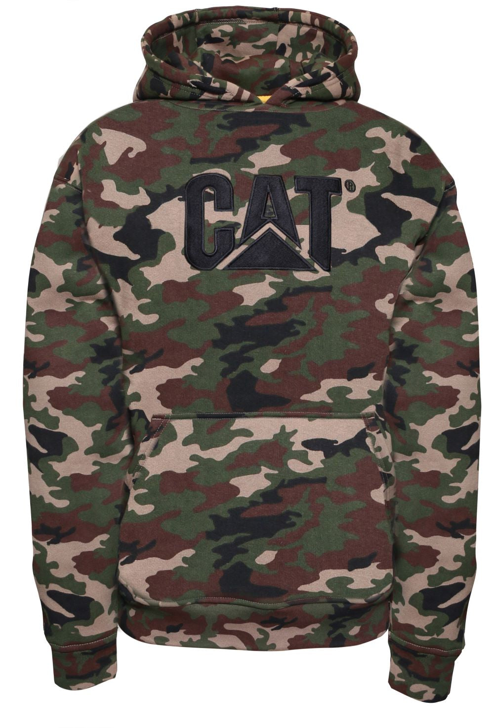 'Caterpillar' Men's Trademark Hooded Sweatshirt - Woodland Camo