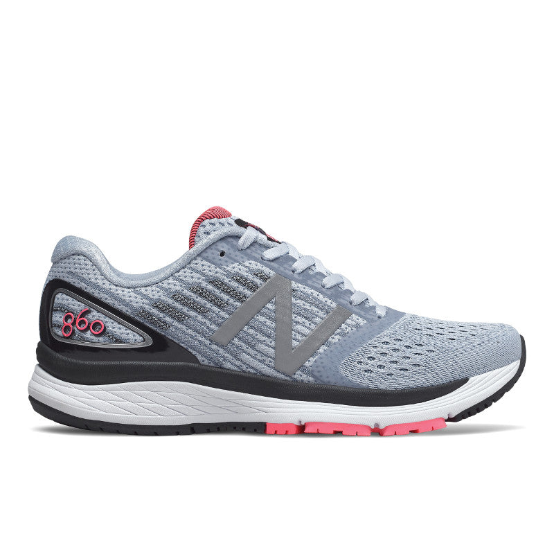 860v9 Stability Running Shoe - Ice Blue / Pink Zing