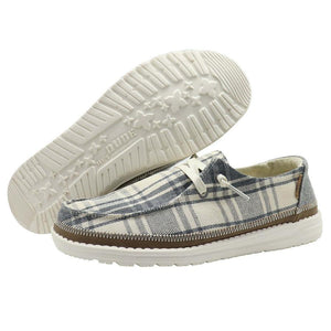 'Hey Dude' Women's Wendy Plaid - Grey