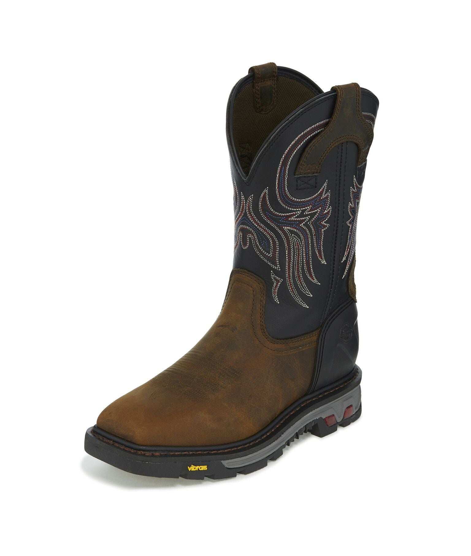 Tanker Square Toe Boot - Timber Black / Reddish Tan Buffalo