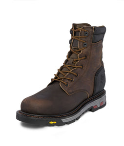 "8"" Laborer Waterproof Composite Toe - Whiskey Barrel Brown / Black"