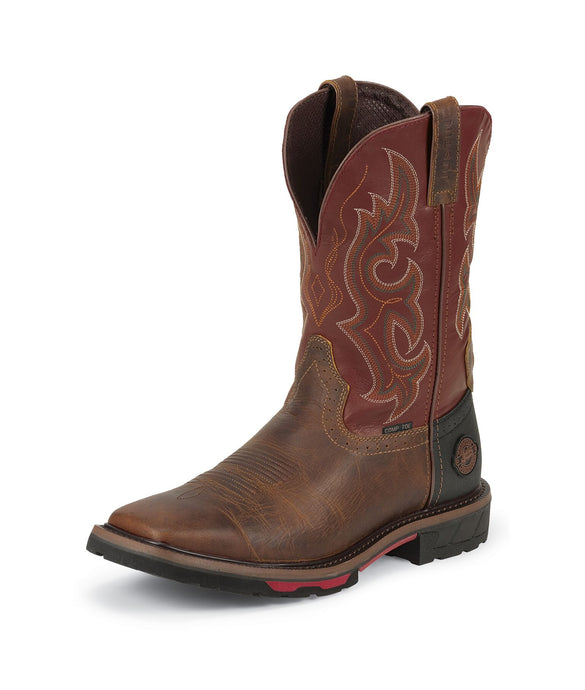 Joist Composite Toe Cowboy Boot - Red Oiled / Rugged Tan