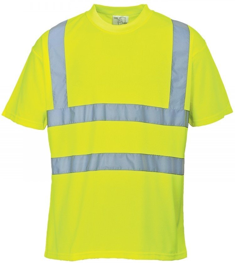 'Port West' Hi-Vis Reflective S/S Tee - Yellow