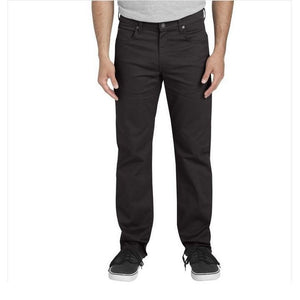 'Dickies' X-Series Regular Fit Straight Leg 5-Pocket - Rinsed Black