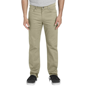 'Dickies' Regular Straight Flex Twill 5 Pocket Pant - Rinsed Desert Sand