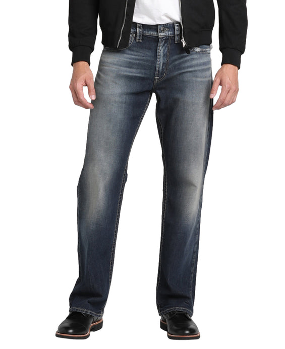 'Silver Jeans' Men's Zac Relaxed Straight Leg -  Dark Indigo Wash