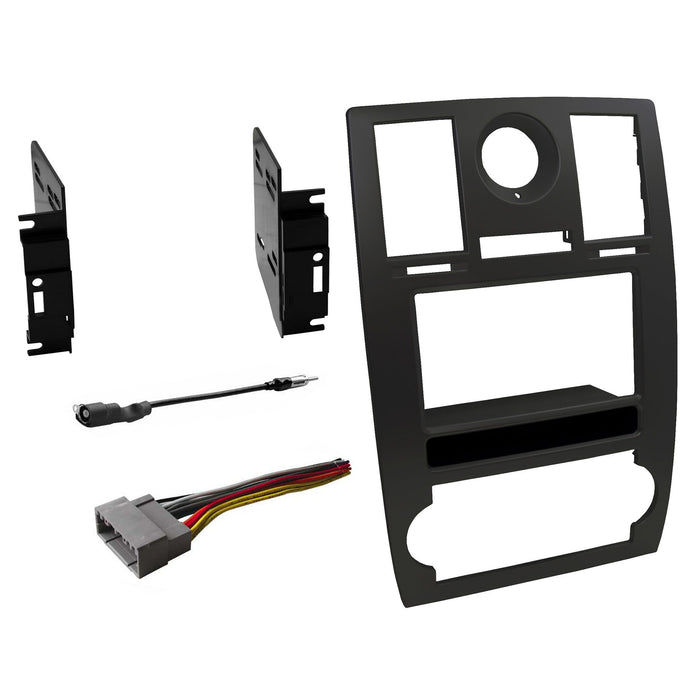 Double DIN Dash Kit for 2005-2007 Chrysler 300 with Antenna Adapter & Harness