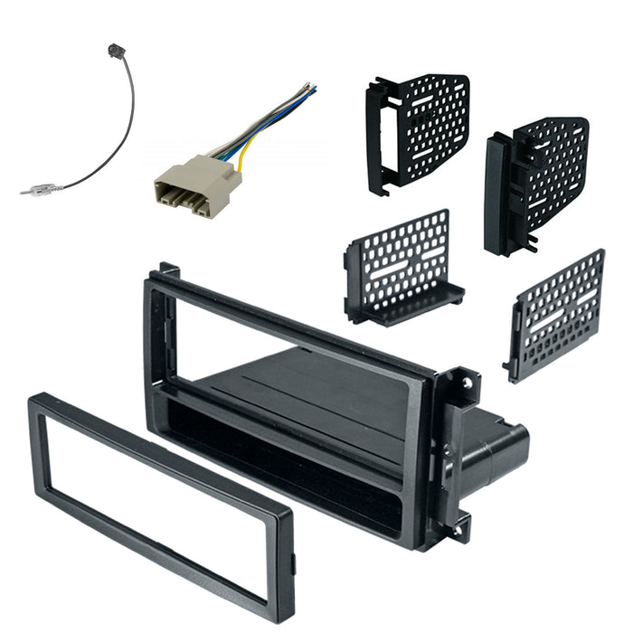 Double Din Dash Kit for 2007-2018 Jeep Wrangler with Antenna Adapter & Harness