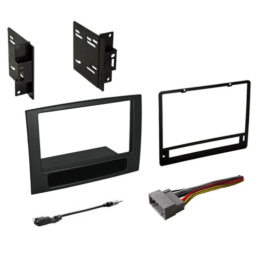 Double DIN Dash Kit for 2006-2008 Dodge RAM with Antenna Adapter & Harness