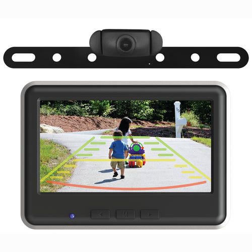 Wireless License Plate Backup Camera & Monitor Kit