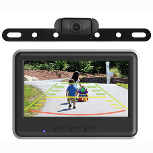 Wireless License Plate Back-Up Camera & Monitor Kit