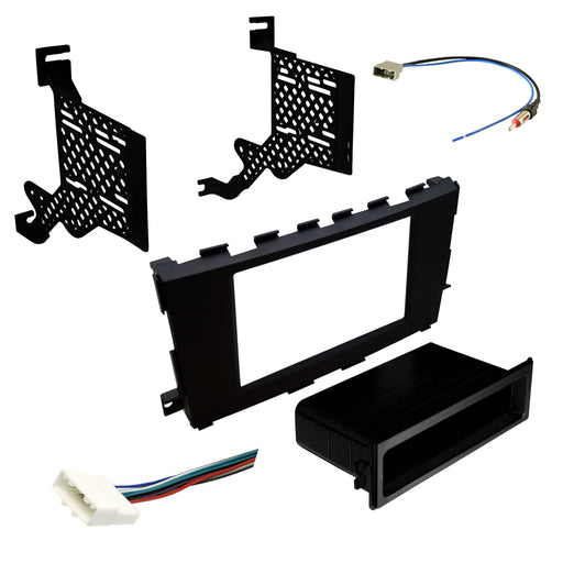 Double DIN Dash Kit for 2013-2017 Nissan Altima with Antenna Adapter & Harness