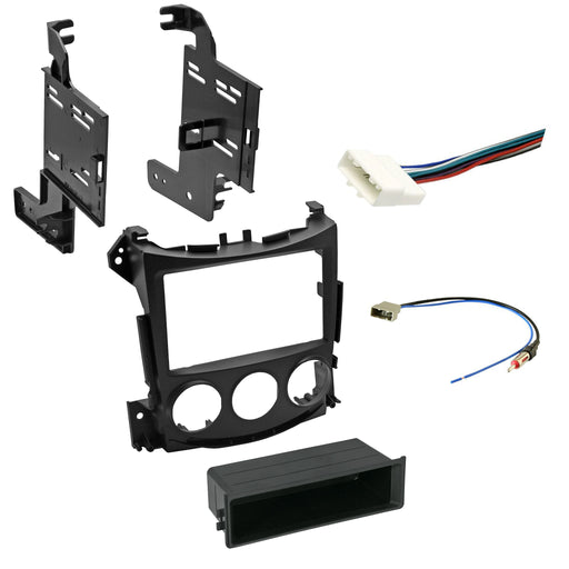 Double DIN Dash Kit for 2009-2018 Nissan 370Z with Antenna Adapter & Harness